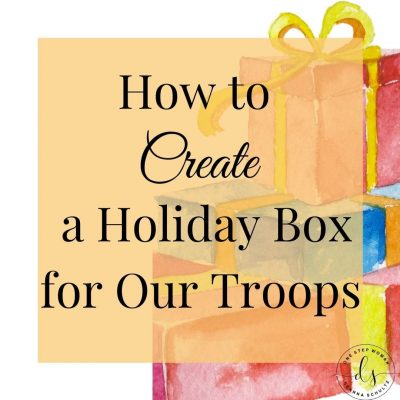 How To Create A Holiday Box For Our Troops | One Step Woman