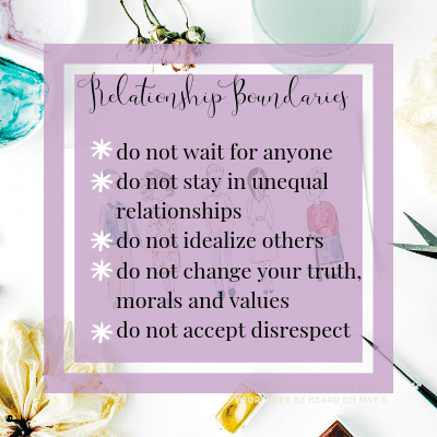 Relationship Boundaries | One Step Woman