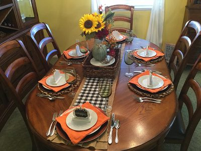 Fall dining room | One Step Woman