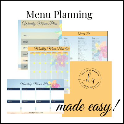 Menu Planning Made Easy | One Step Woman