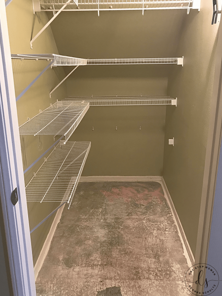 How I converted a Hall Closet to a Dish Room | One Step Woman